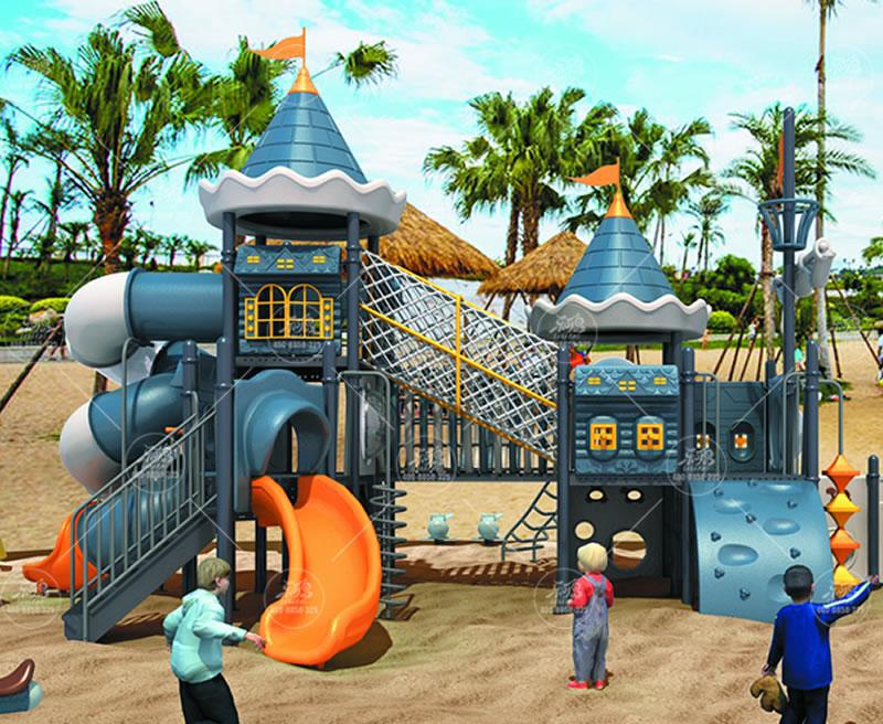 户外无动力儿童乐园游乐设备定制 大型儿童滑梯