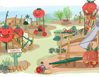 番了个茄农庄规划,主题乐园设计案例