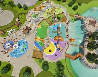 水怪欢乐园室外儿童水乐园策划设计