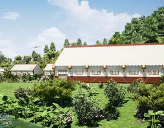 研学基地可移动帐篷可移动学生宿舍教室报告厅专业设计生产厂家直供