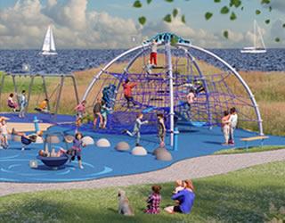 户外儿童大型绳网攀爬组合 公园大型拓展攀爬架定制