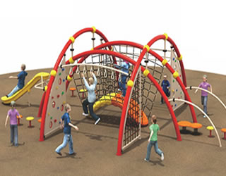 儿童户外攀爬网定制大型拓展多功能爬网攀岩攀爬架户外游乐设备