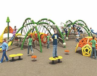 定制成品幼儿园攀登爬网室外大型攀爬网儿童趣味游乐设施绳网厂家
